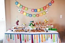 Fabulous Rainbow Fairy Themed Party Table Decoration Idea For Kids