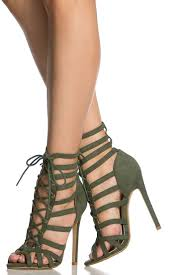 Womens Green Dress Sandals