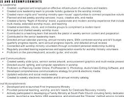 Pastor Resume Templates Adorable Ministry Resume Template Worship Director Resume Bunch Ideas Of