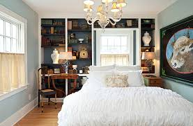 View in gallery Midnight blue bedroom accent wall