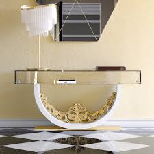 luxury contemporary glass console table  juliettes interiors