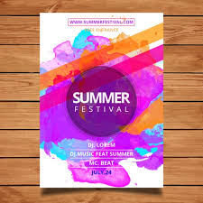 Poster Templet Summer Festival Poster Template Vector Free Download