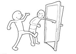open door clipart black and white. Open Clipart Holding The Door Box Black And White D