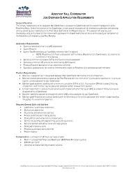 assistant hall director job description cover letter cover letter template for financial advisor sample resume exles academic advisorjob description for a
