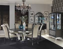 Michael Amini Living Room Sets Michael Amini Hollywood Swank Round Dinner Table W Pedestal Base