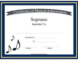 Piano Certificate Template Printable Award Certificates For Music Download Them Or Print