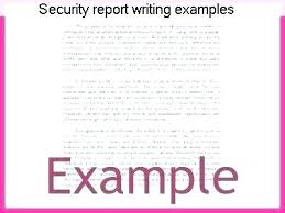 Security Guard Incident Report Template Officer Examples