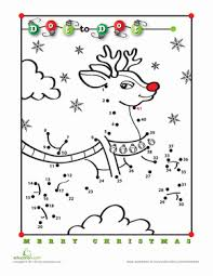 Small Picture Rudolph Dot to Dot Worksheets Activities and School