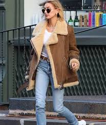 Baldwin Denim Size Chart Hailey Baldwin Velocite Shearling Jacket