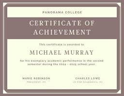 Free Online Printable Certificates Of Achievement Certificate Of Achievement Free Templates Easy To Use Download Print