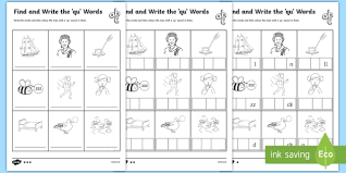 So far you can see we have a variety of sets of worksheets that deal with beginning sounds and rhyming and we are working on more. Find And Write Qu Words Phonics Worksheets Teacher Made