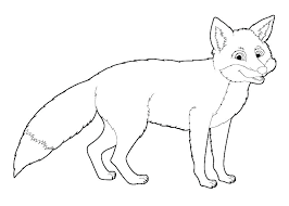 Red Fox Coloring Page Pages Arctic Butterfly Baby Animal Jam Wolf To