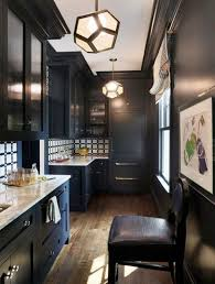 black kitchen cabinets with white marble countertops. Dark Kitchen Color Black Cabinets With White Marble Countertops L