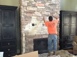 drilling into rock fireplace mounting tv on stone veneer how to mount tv on stacked stone