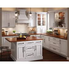Dove White Kitchen Cabinets Kitchen Cabinet Kraft Maid For A Transitional Kitchen With A