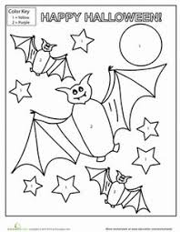 Small Picture Halloween Color by Number Number worksheets Worksheets and