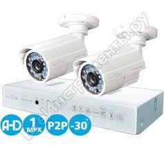 <b>Комплект видеонаблюдения AHD</b> 1MPX Дача 4+2 <b>IVUE IVUE</b> ...