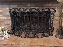 iron fireplace screen classic