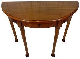 mahogany hall table. Half-moon Mahogany Hall Table With Drawer