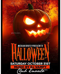 halloween template flyer 25 best beautiful halloween flyer templates images on pinterest