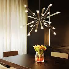starburst led chandelier blackjack lighting