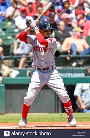 Red At May Right Bat During Defeated Between Sox Rangers In Betts Park Tx Mlb Globe Life An 2018 Boston And Fielder Mookie 50 06 Pena 6-1 184017064 Albert Alamy Arlington - Photo The Game Texas csm Stock