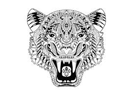Nouveau Coloriage Mandala Animaux Tigre