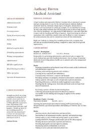 Entry Level Medical Assistant Resume Examples The Best Of Magic
