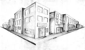 perspective drawings of buildings. Perfect Buildings Two Point Perspective Drawing For Perspective Drawings Of Buildings E