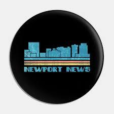 Newport News City Skyline Retro Cityscape 70s 80s Vintage Virginia Va Gift