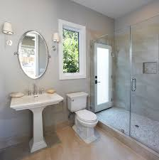 transitional single story transitional bathroom