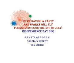 4th of july party invitations wording 8