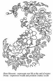 Small Picture Ume Blossom clipart coloring page Pencil and in color ume