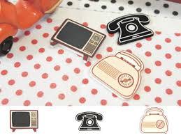 6 Confettis de table Objet vintage - Thema Deco