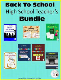 Back To School Templates Bundle Rubric Progress Report Seating Chart Lesson