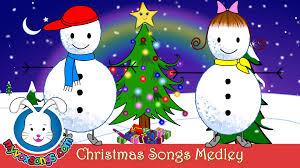 Christmas For Kids Christmas Songs For Kids With Lyrics Xmas Medley Youtube