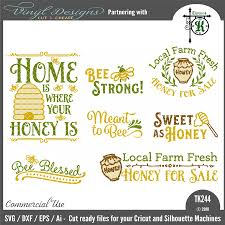 Silhouette Designs For Sale Tk244 Honey Bee Bundle 7 Designs Honey Honey For Sale Bee