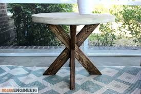 metal end table legs round end table x brace concrete side table plans rogue engineer 3