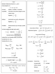 fluid dynamics equation sheet. fluid dynamics equation sheet