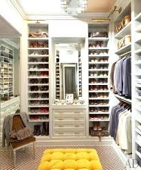closet stool closet stool dressing room set up walk in closet shoe shelves white shoes yellow