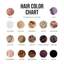 Well Hair Color Chart How To Choose The Best Hair Color For You Hairstyle On Point