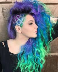 Hair Designs By Tim Makes Me Miss My Half Shaved With Crazy Colors I Think This