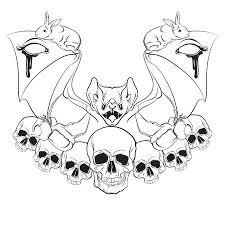 Vector Illustration In Hand Drawn Realistic Style With Skull ...