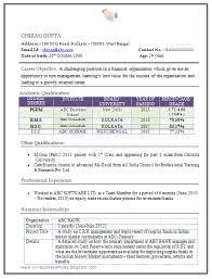 Sample Resume For Mba Freshers Mba Fresher Resume Format Templates