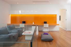 office backdrop. View In Gallery Orange Backsplash And Desk Adds Vibrant Charm To The Contemporary Home Office [Design: DKOR Backdrop H