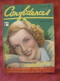 ▭▻ French Magazine 1940 Cover Betty Fields | eBay
