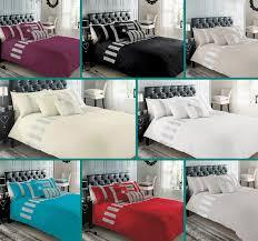 luxury diamante duvet cover set with pillow cases designer bed linen quilt sets
