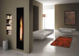 narrow wall shelves insert design beside double sided vertical wall mounted gas fireplace room divider next