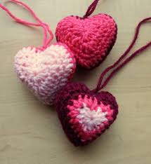 Crochet Heart Pattern Free Simple Hanging Hearts Make My Day Creative