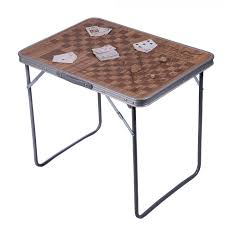 classic folding camping table brown